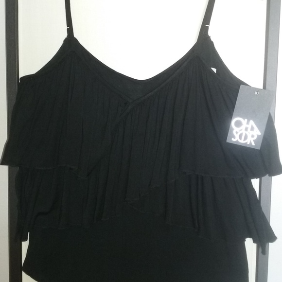 Chaser Tops - Flirty black vintage look Chaser top